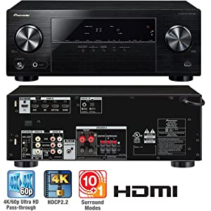 Pioneer VSX-530-K 5.1-Channel AV Receiver with Built-in Blueooth