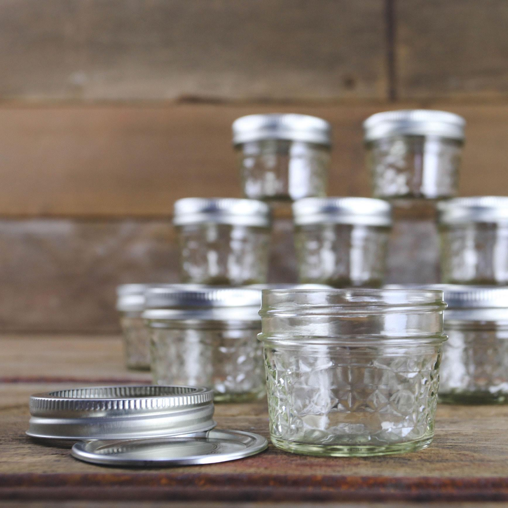 Amazon.com: Ball Mason 4oz Quilted Jelly Jars with Lids and Bands ... : quilted jam jars - Adamdwight.com