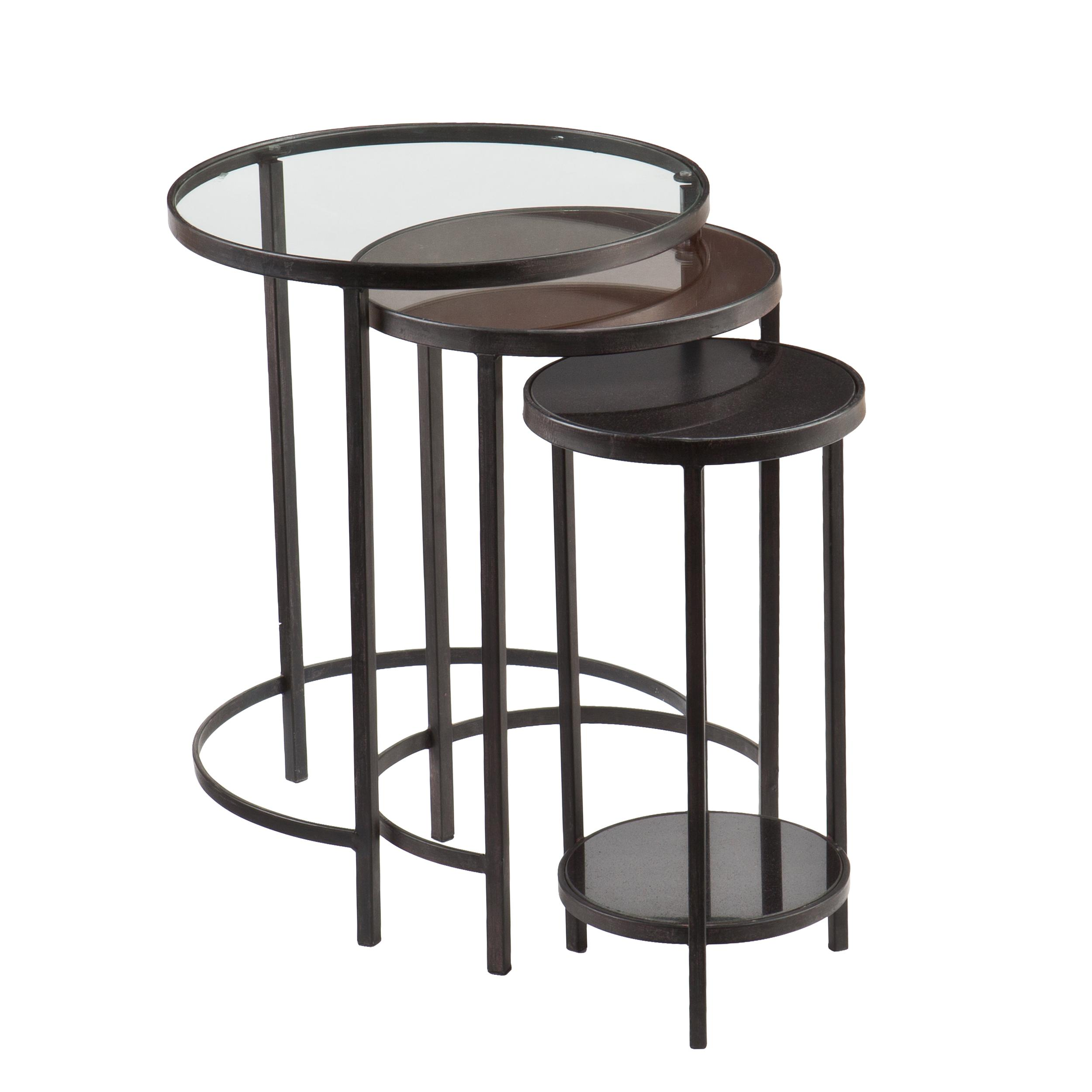 Nesting Tables Amazoncom Holly Martin Ocelle 3pc Nesting Tables Kitchen Dining