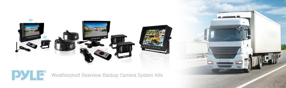 Weatherproof Rearview Backup Camera System Kit