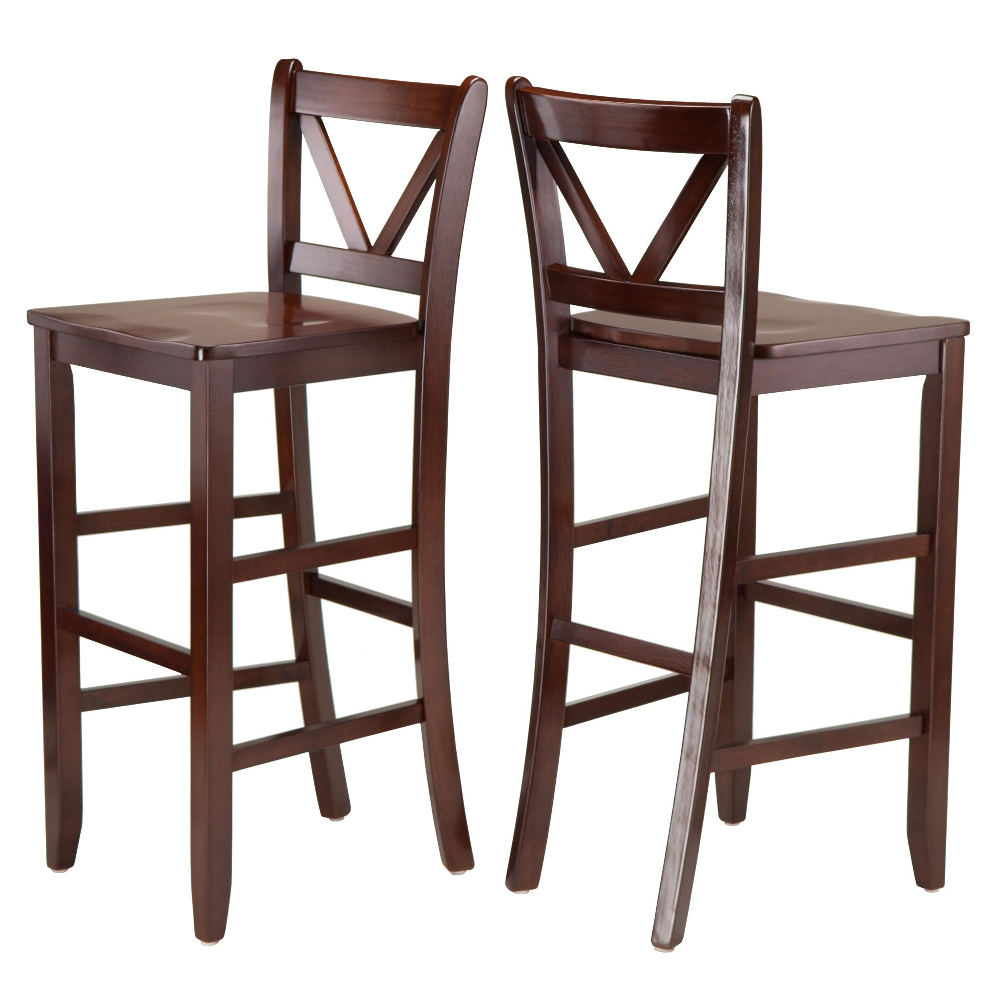 Amazon Winsome Victor 2 Piece V Back Bar Stools 29 Inch