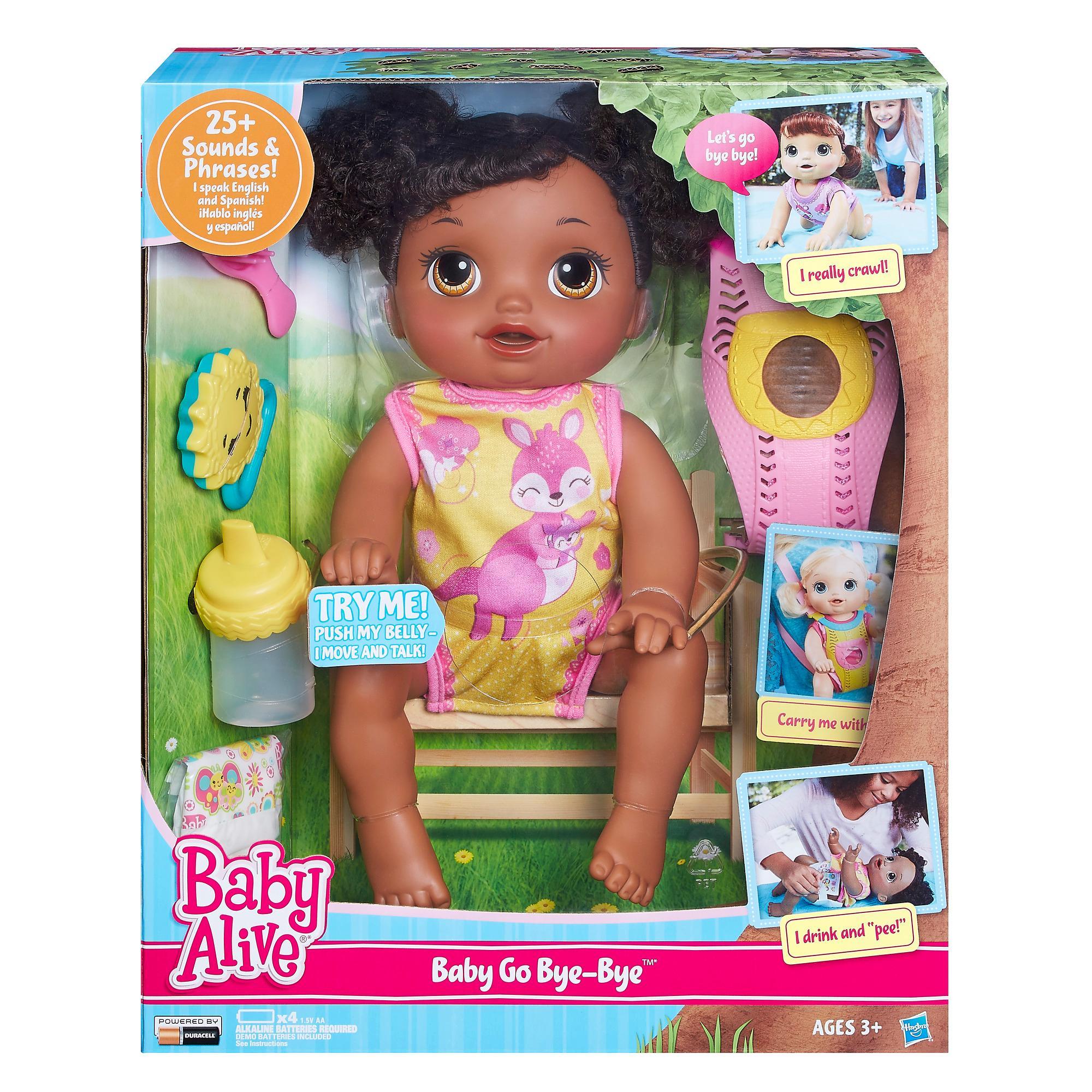 Amazon Com Baby Alive Baby Go Bye Bye African American