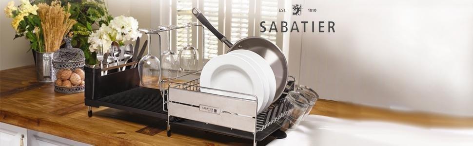 Amazon Com Sabatier Expandable Compact Dish Rack With