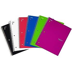 graph paper spiral notebook, paper notebook