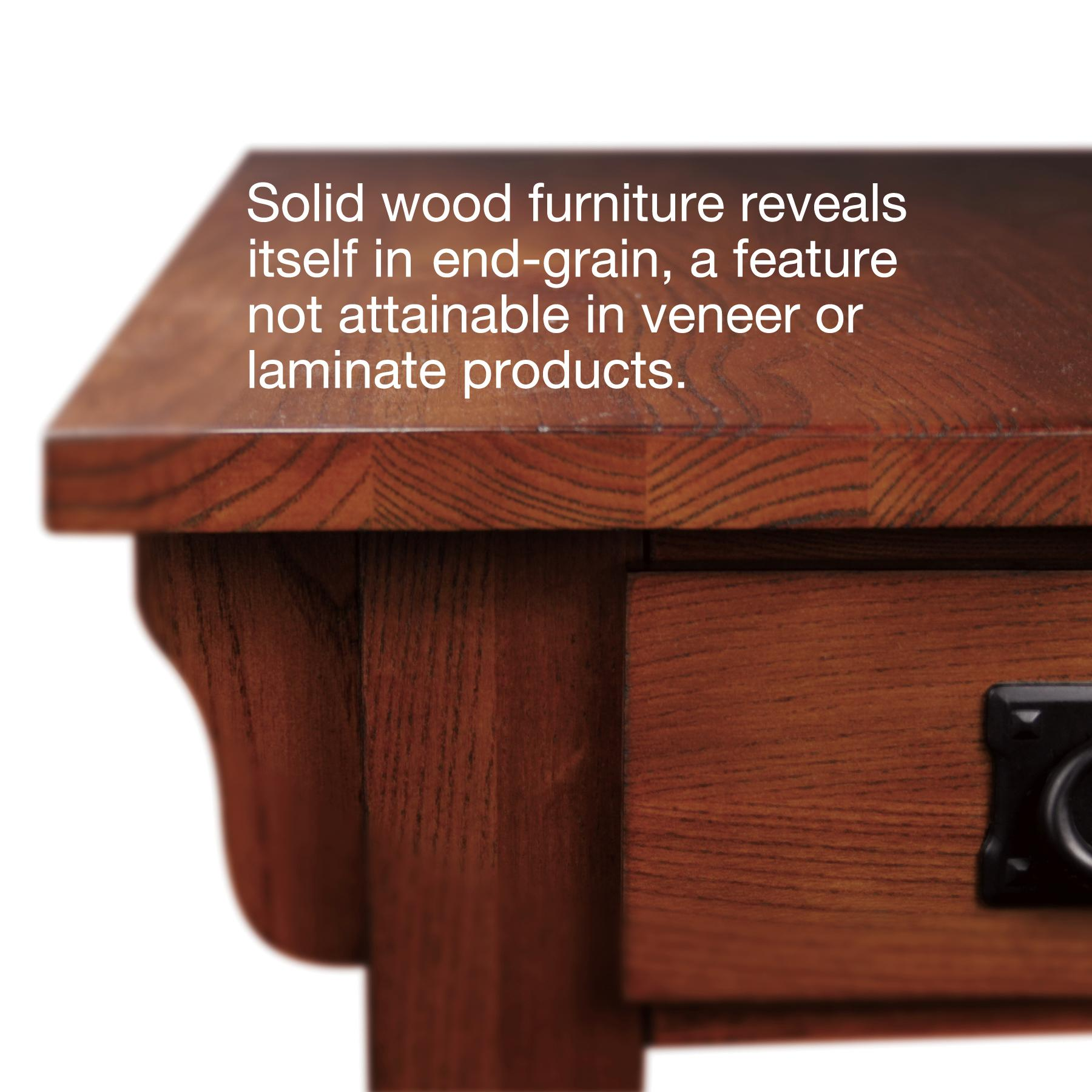 Amazon Leick Furniture Mission Chairside Table Medium Oak
