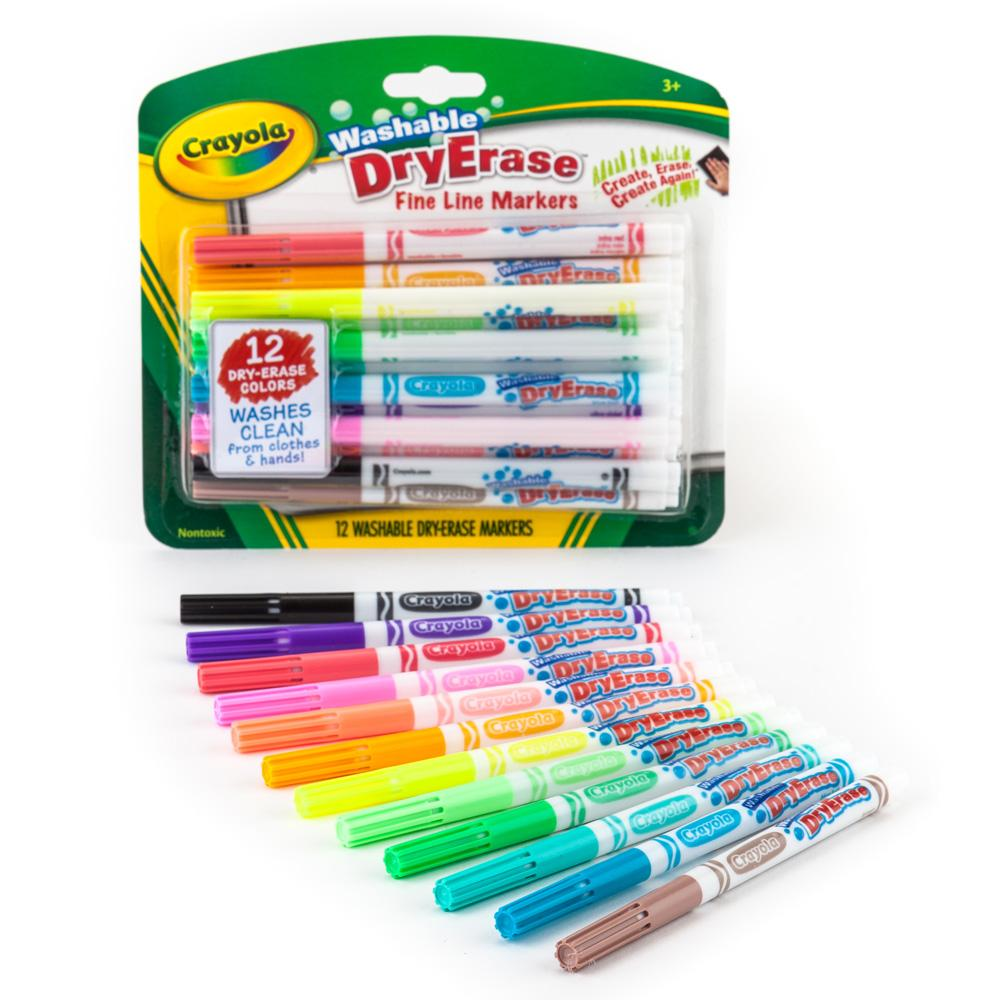 Amazon.com: Crayola Washable Dry-Erase Markers, 12 Count