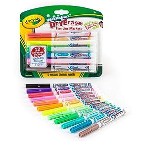 Amazon.com: Crayola 98-5912 Washable Dry-Erase Fine Line