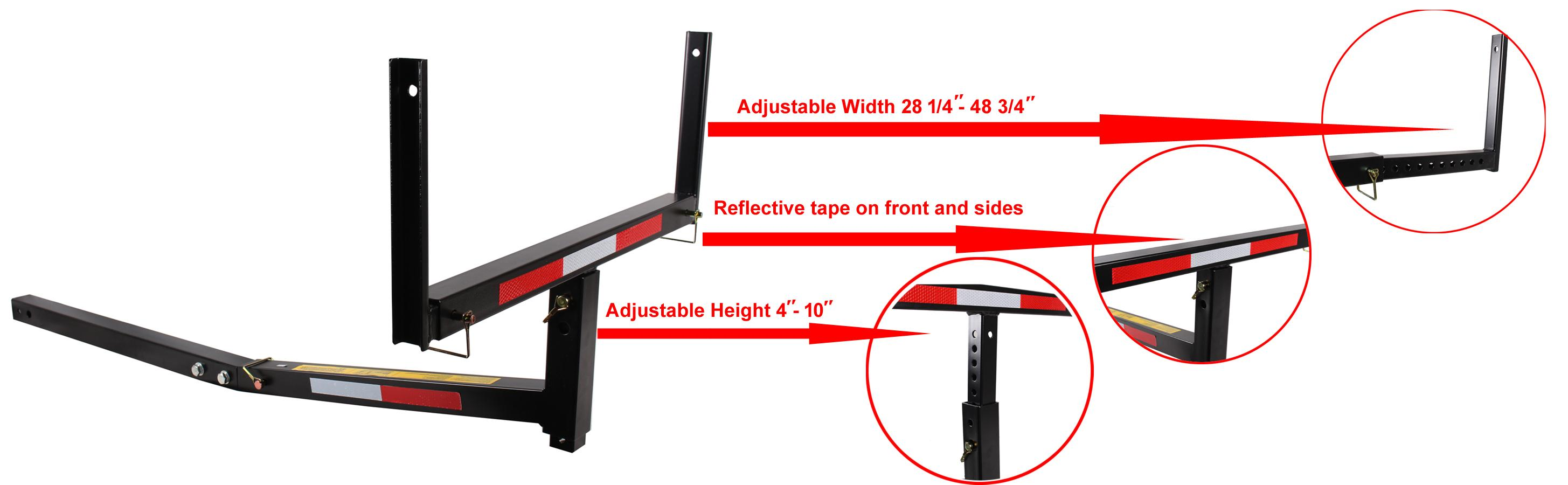TMS T-NS-HITCH-BED-EXTENDER Heavy Duty Pickup Truck Bed Hitch Mounted