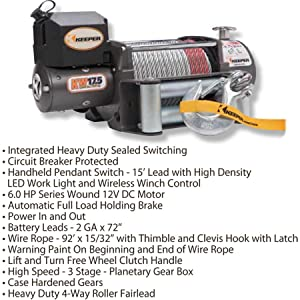 keeper winch wiring diagram data wiring diagram schema amazon com keeper kw95122 1 12v dc heavy duty winch wireless winch solenoid diagram keeper winch wiring diagram