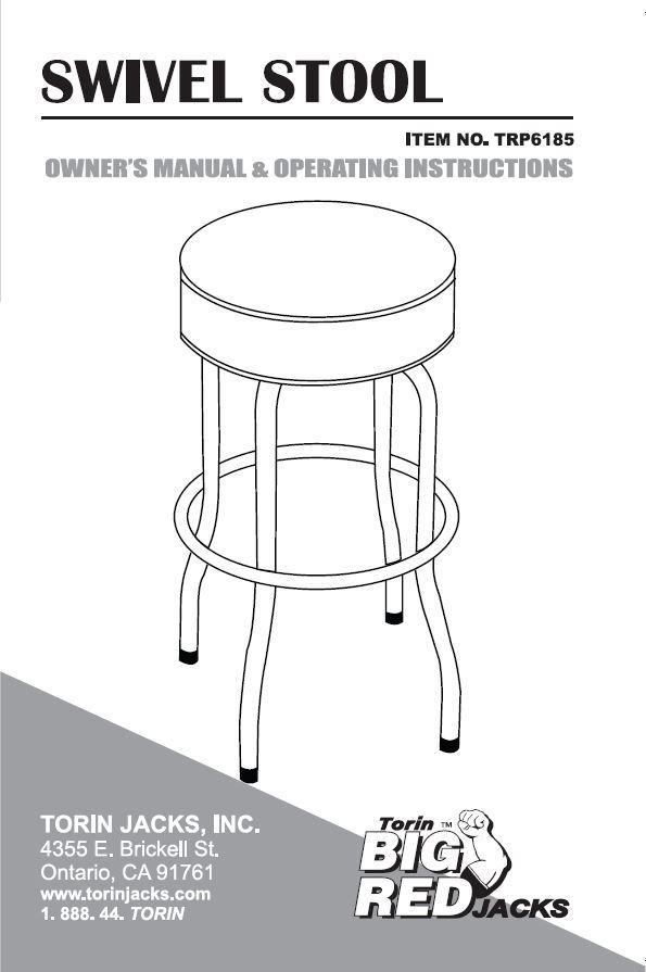 Amazon Com Torin Trp6185 Swivel Seat Shop Bar Stool