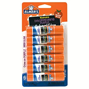 Elmer's Disappearing Purple School Glue Stick (6 x 6g)