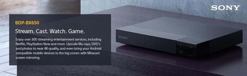 Amazon Com Sony Bdpbx650 Blu Ray Player With Wi Fi