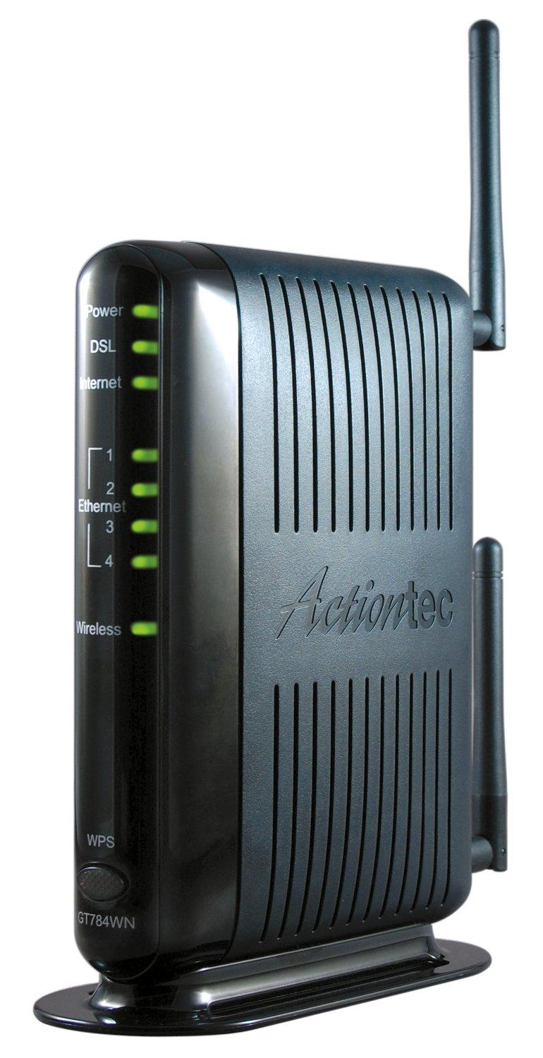 actiontec 300 mbps wireless n adsl modem router gt784wn electronics. Black Bedroom Furniture Sets. Home Design Ideas