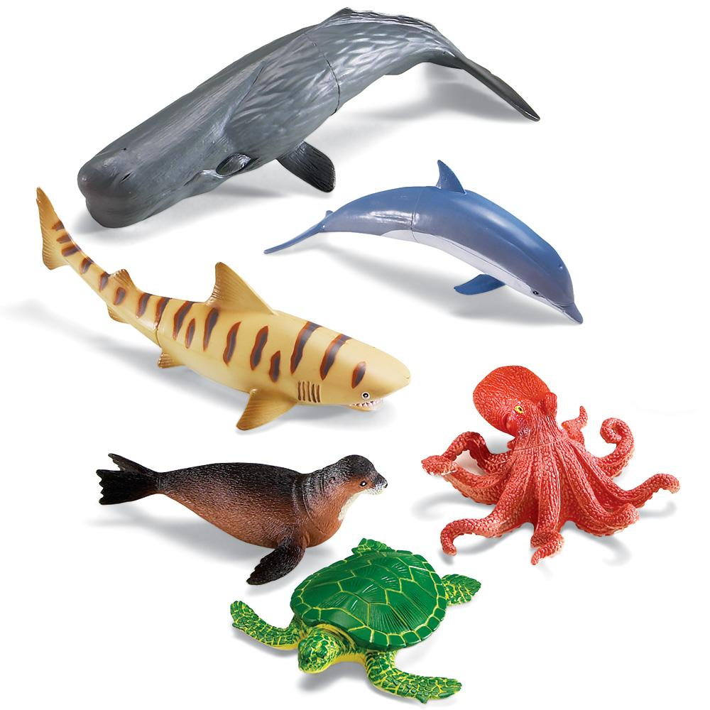 Sea Creature Toys : Amazon learning resources jumbo ocean animals toys