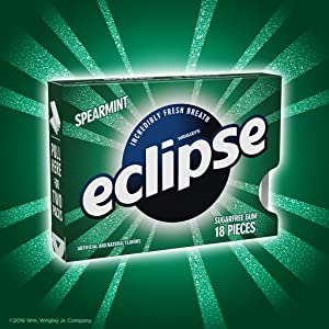 Split pack of Eclipse sugarfree chewing gum