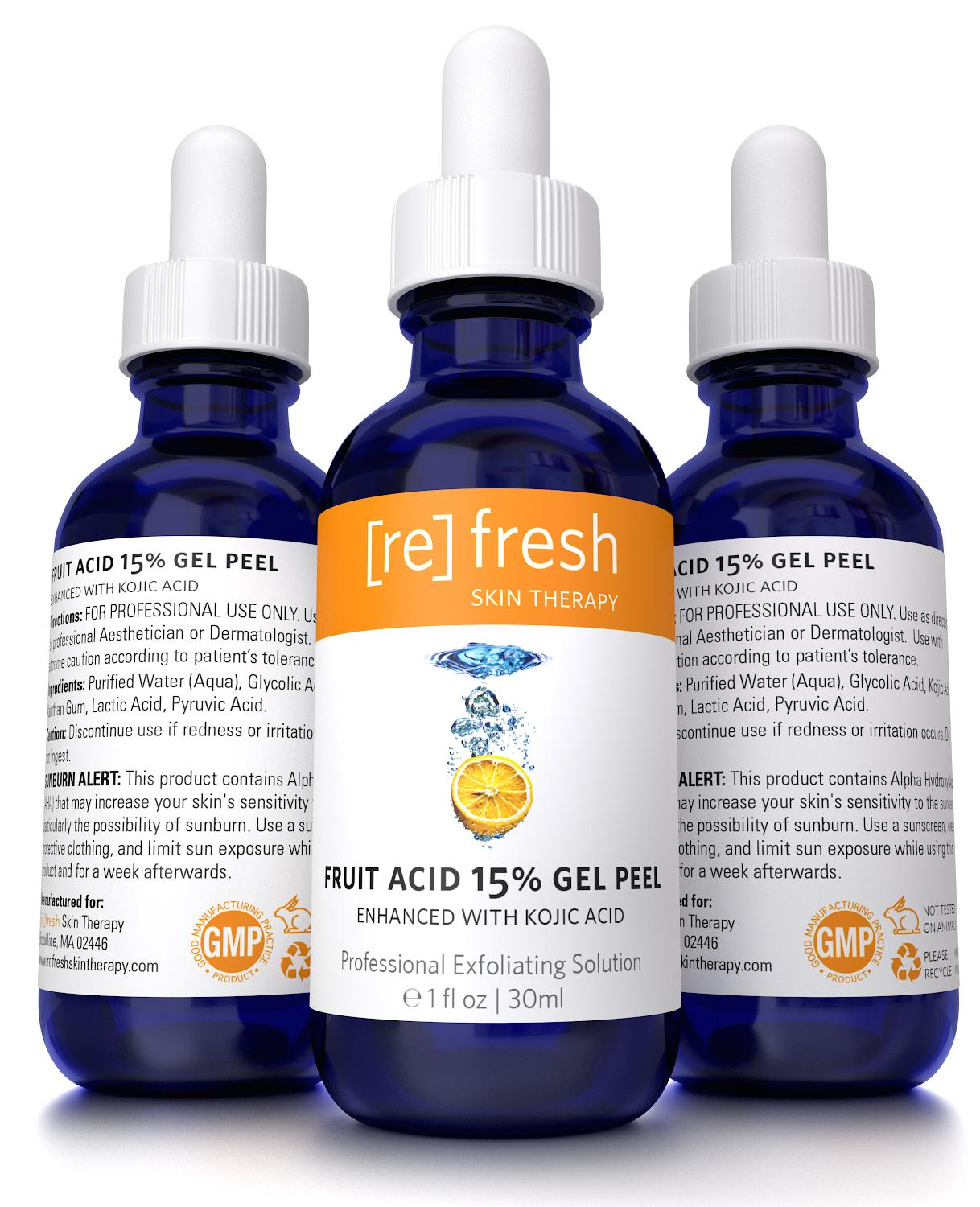Amazon Com Refresh Skin Therapy Fruit Acid Chemical Peel With Kojic