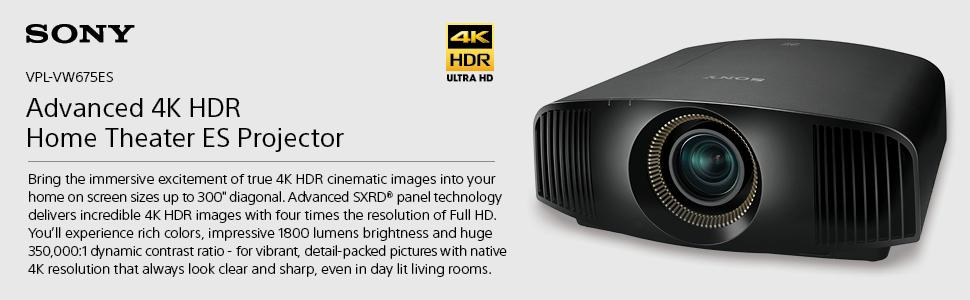 amazon com sony vplvw675es native 4k hdr 3d sxrd home theater rh amazon com New Sony 4K Projector sony 4k sxrd projector manual