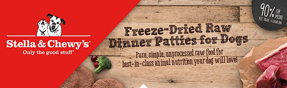 freeze dried raw dinner patties stella and chewys grain free dog food primal nature's variety