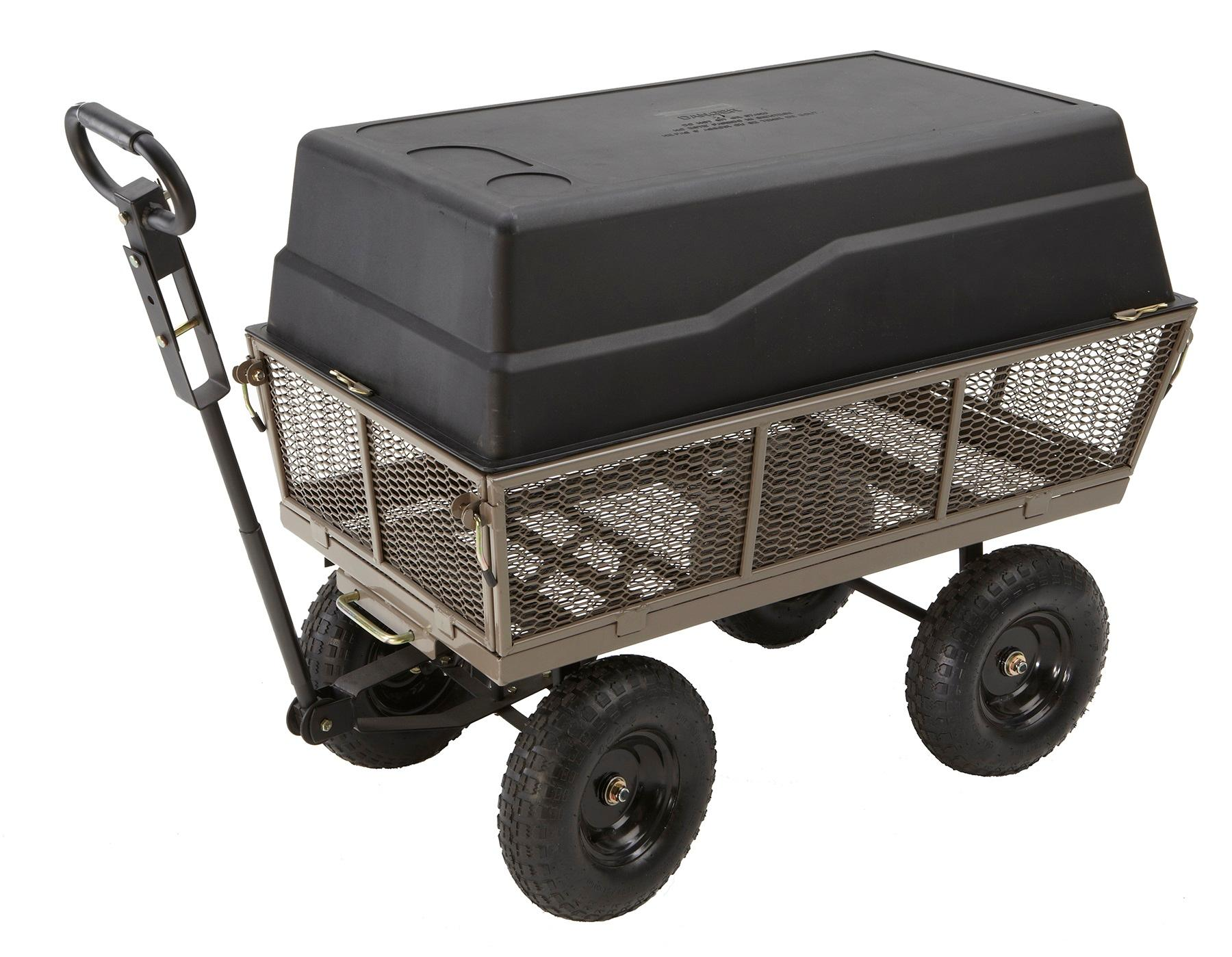 Gorilla Carts Steel Dump Cart With Removable