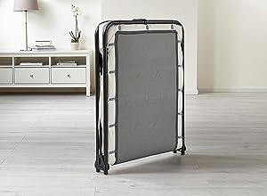 Jay Be Saver Folding Bed With Airflow Mattress Regular Black White
