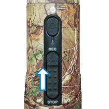 Easy to use button control - iON CamoCam Realtree Xtra Texture Camouflage HD Video Camera
