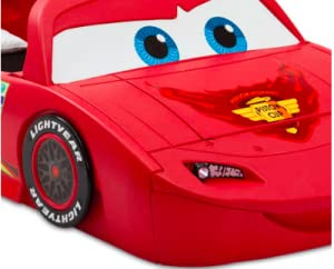 cars, disney, pixar, lightning, mcqueen, race, car, racing, toddler, to, twin, bed, convertible