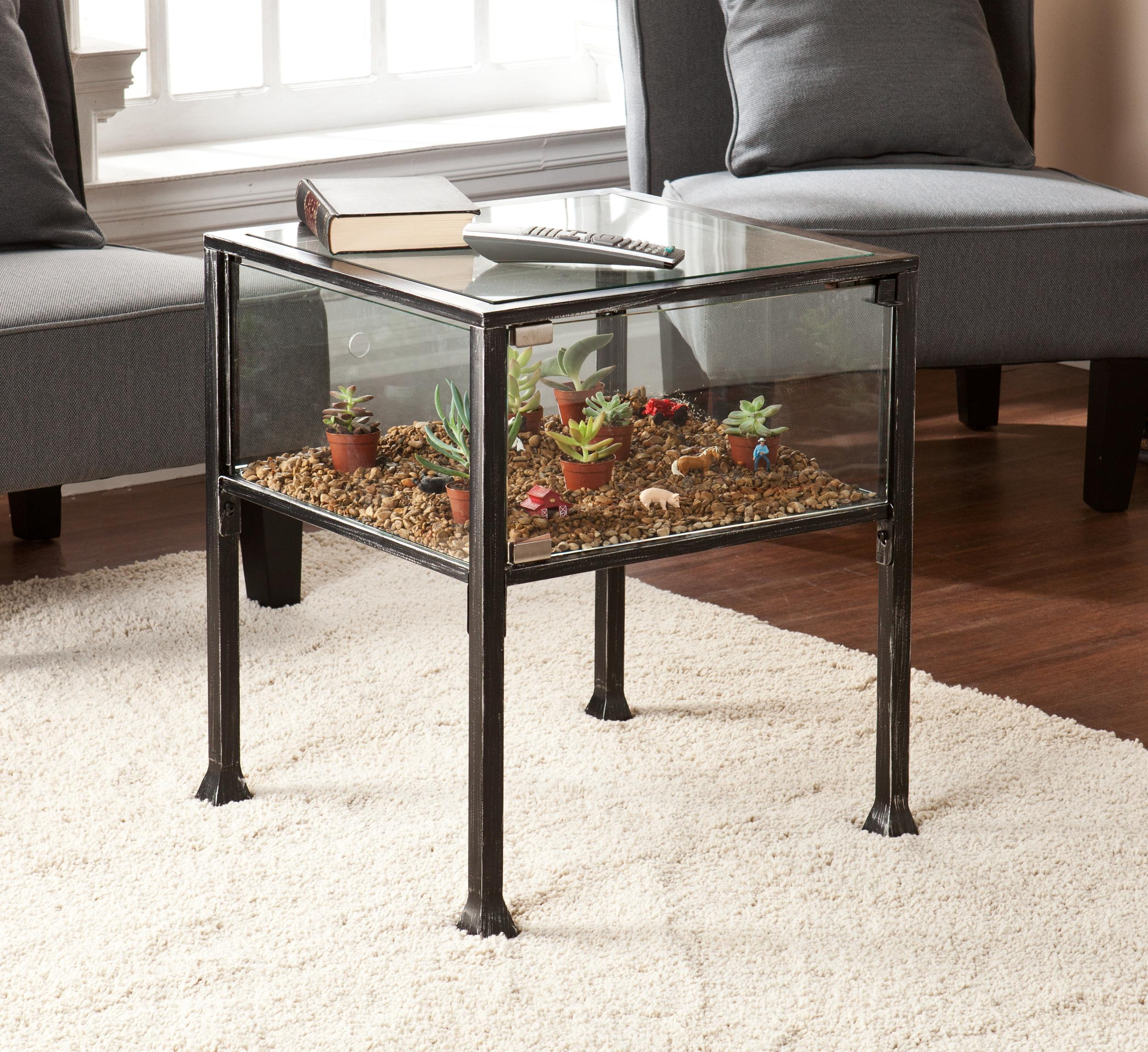 Kitchen Side Table: Amazon.com: Southern Enterprises Terrarium Display Side