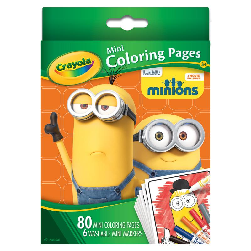 Amazoncom Crayola Mini Coloring Pages Minions Toys Games