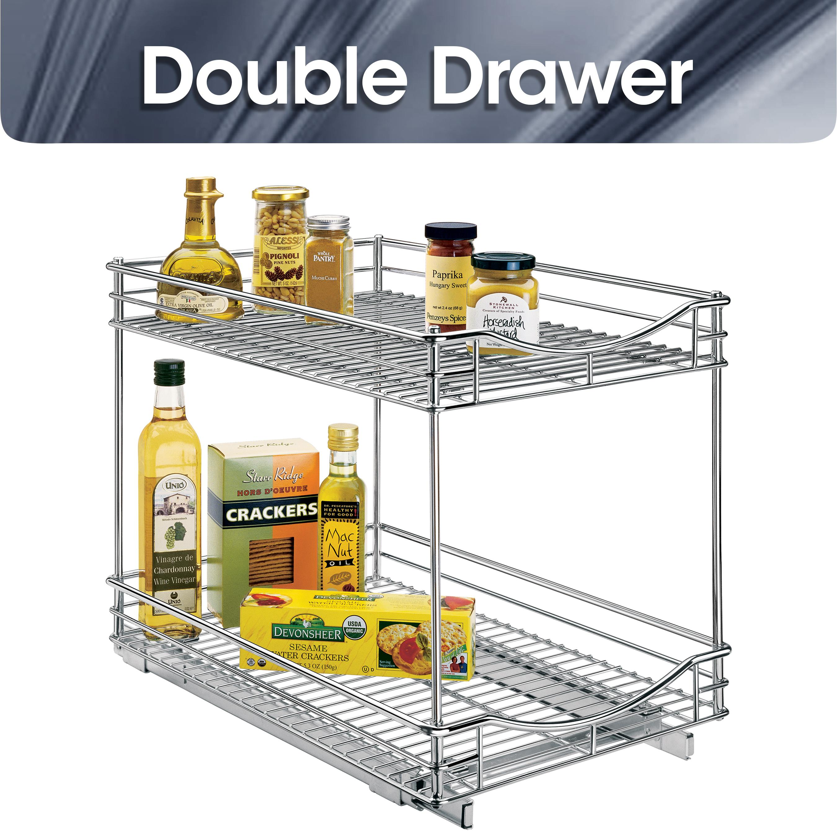 Kitchen cabinet rack 10 inch wide x 21 inch deep chrome home