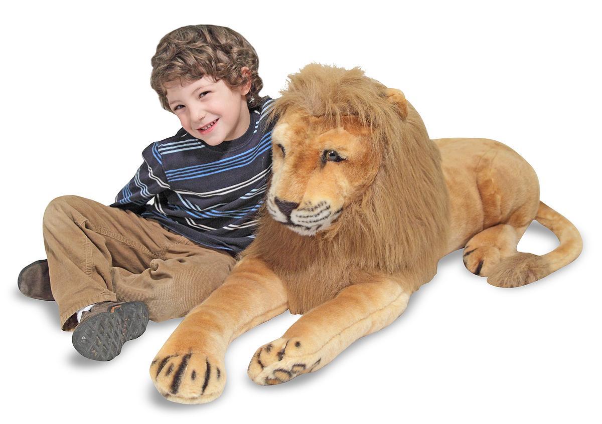 Amazon.com: Melissa & Doug Giant Lion - Lifelike Stuffed