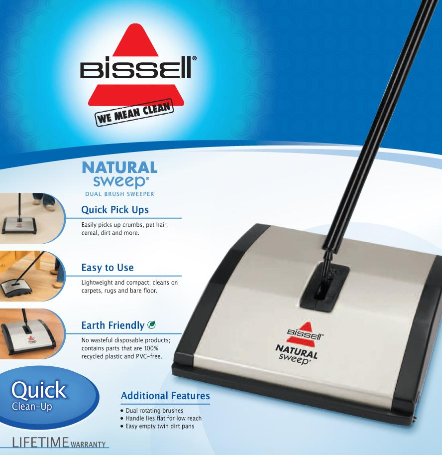 BISSELL Natural Sweep Dual Brush Sweeper, 92N0A