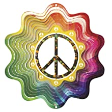 Iron Stop Peace Sign Wind Spinner