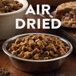 natural, air dried, dry dog food, grain-free, grain free, gluten-free, protein, protien