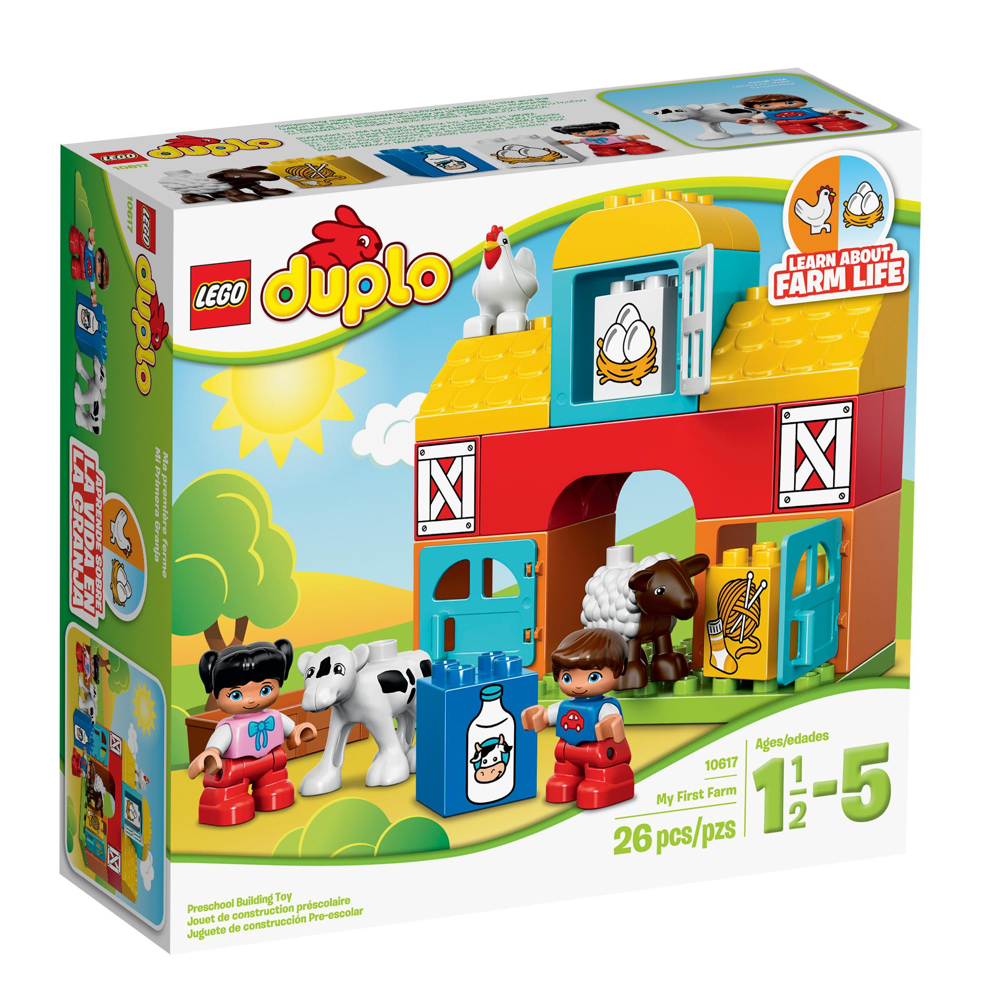 lego duplo my first farm 10617 learning toy for toddlers toys games. Black Bedroom Furniture Sets. Home Design Ideas