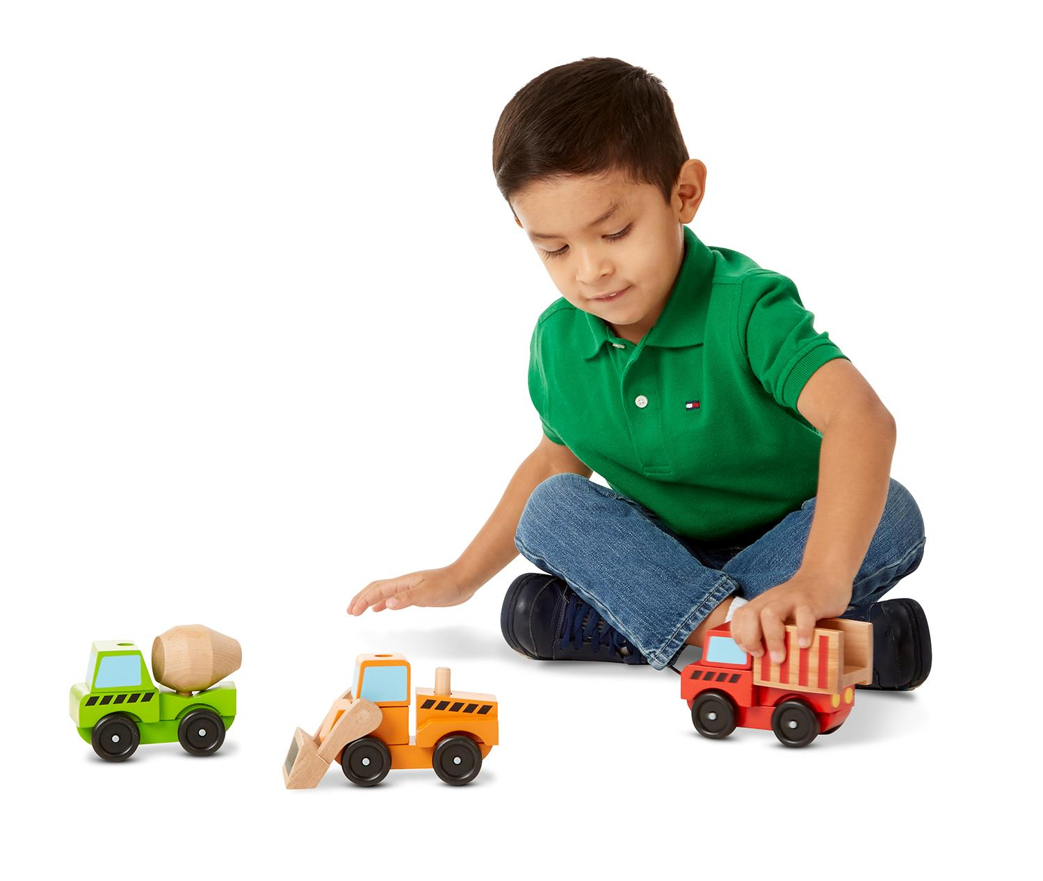 Construction Vehicles Wooden Toy Set: Melissa & Doug: Toys & Games