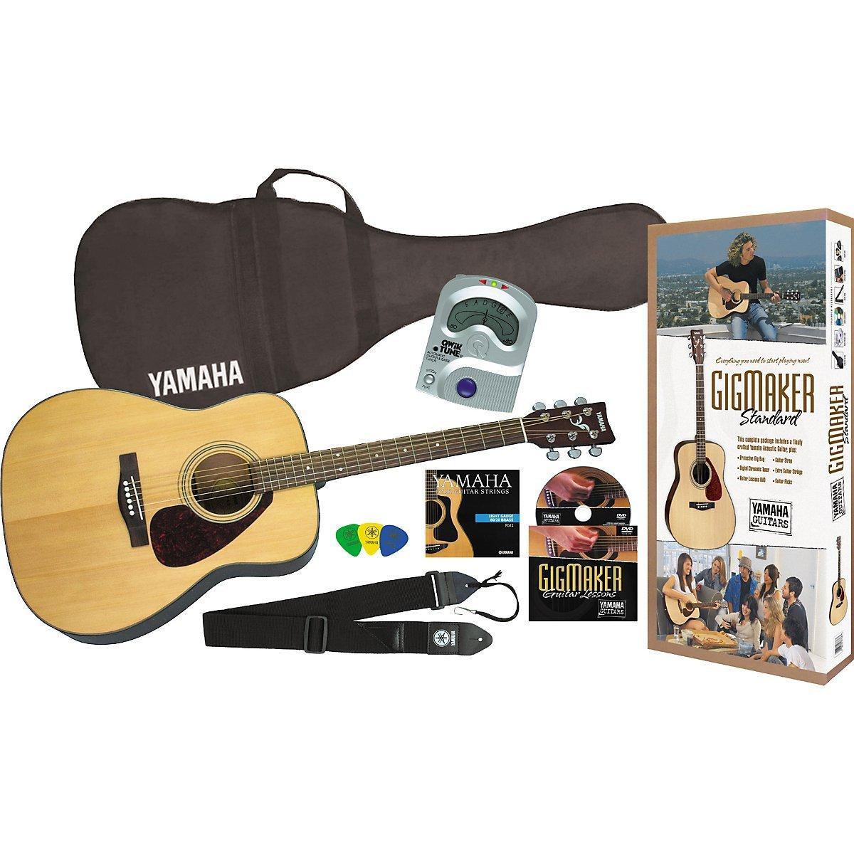 yamaha gigmaker standard acoustic guitar w gig bag tuner instructional dvd strap. Black Bedroom Furniture Sets. Home Design Ideas