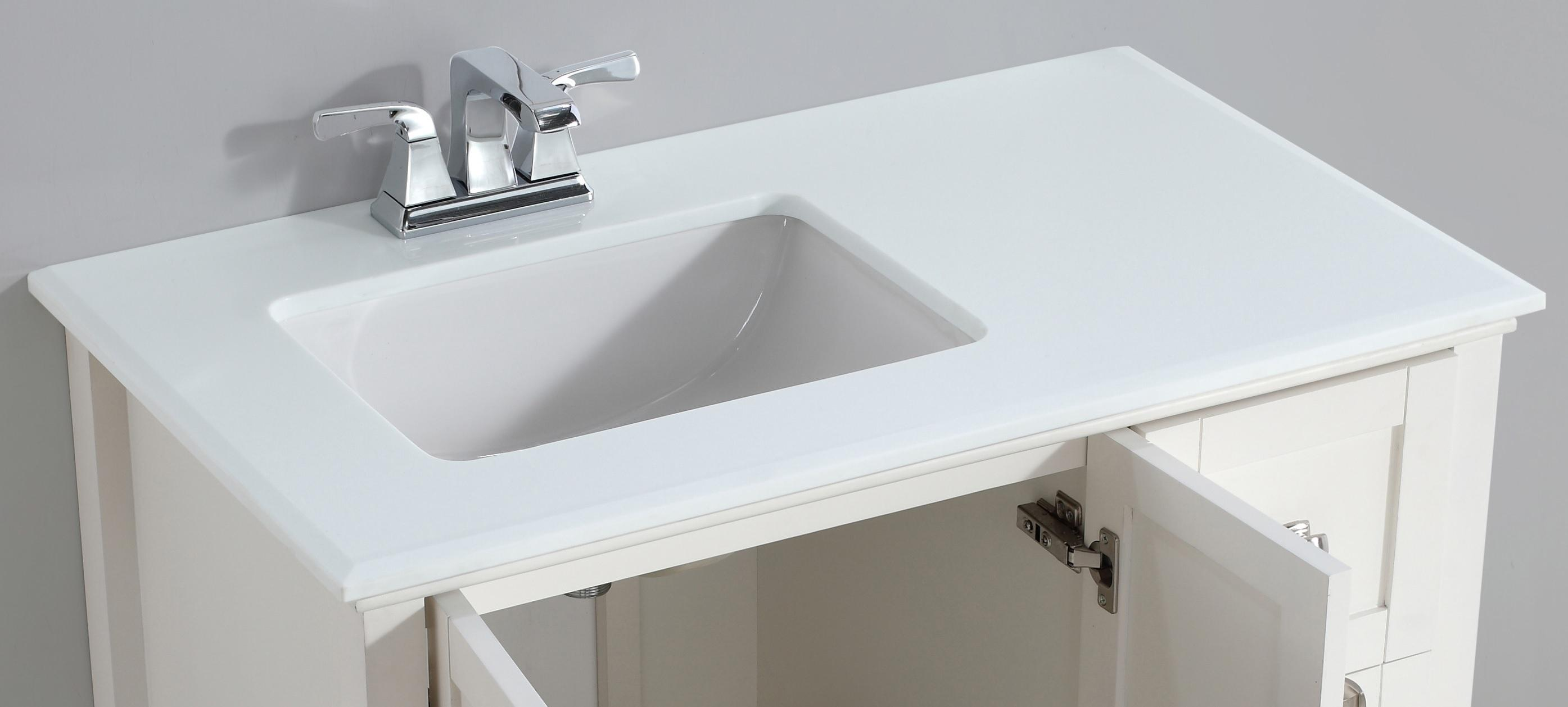 Simpli Home Chelsea 36 Quot Left Offset Bath Vanity With White