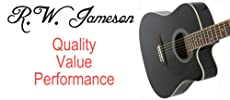 jameson acoustic electrin thin guitar with pickup