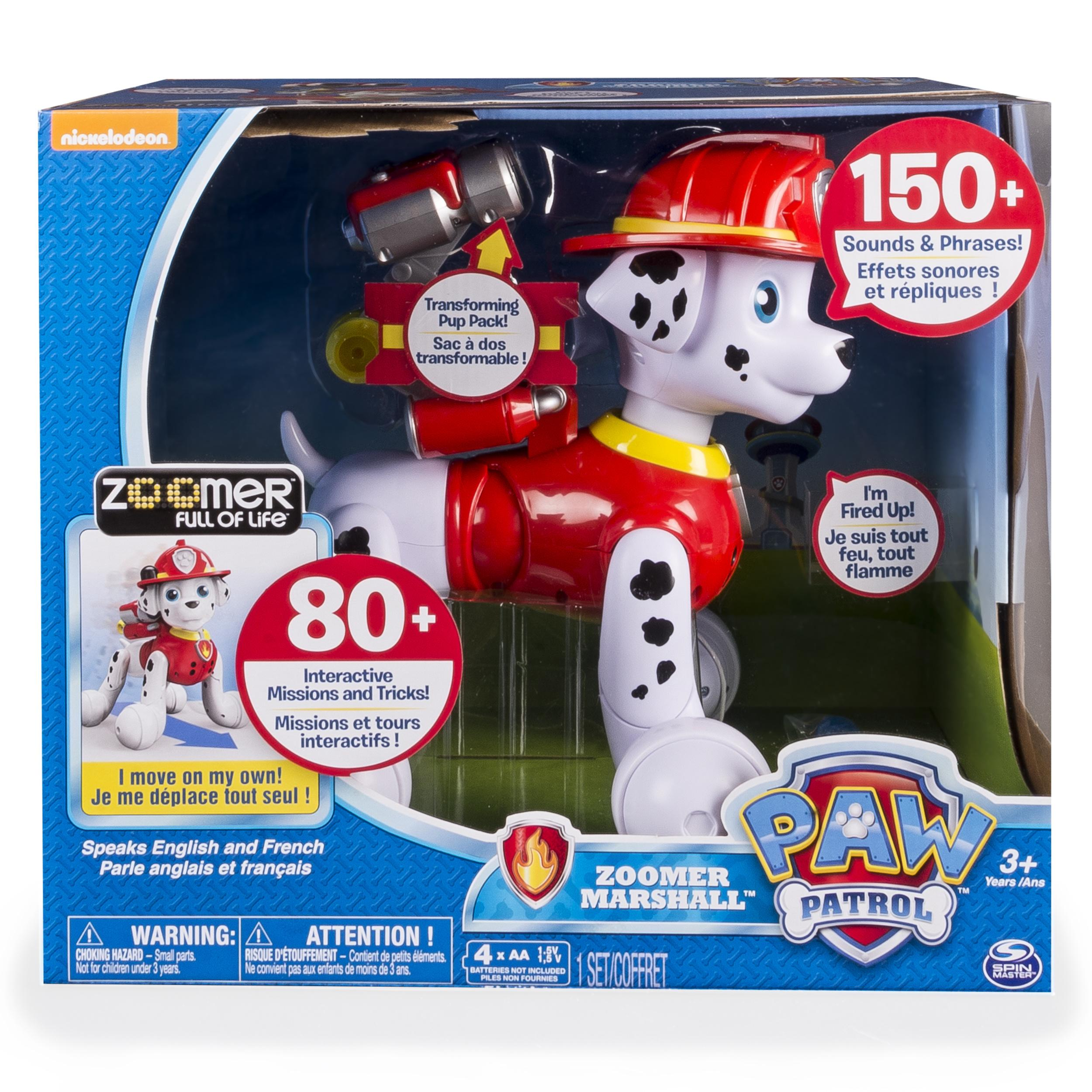 Amazon com paw patrol zoomer marshall interactive pup with missions