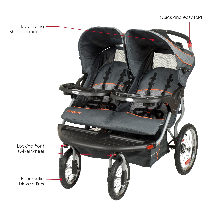 Amazon Com Baby Trend Navigator Double Jogger Stroller