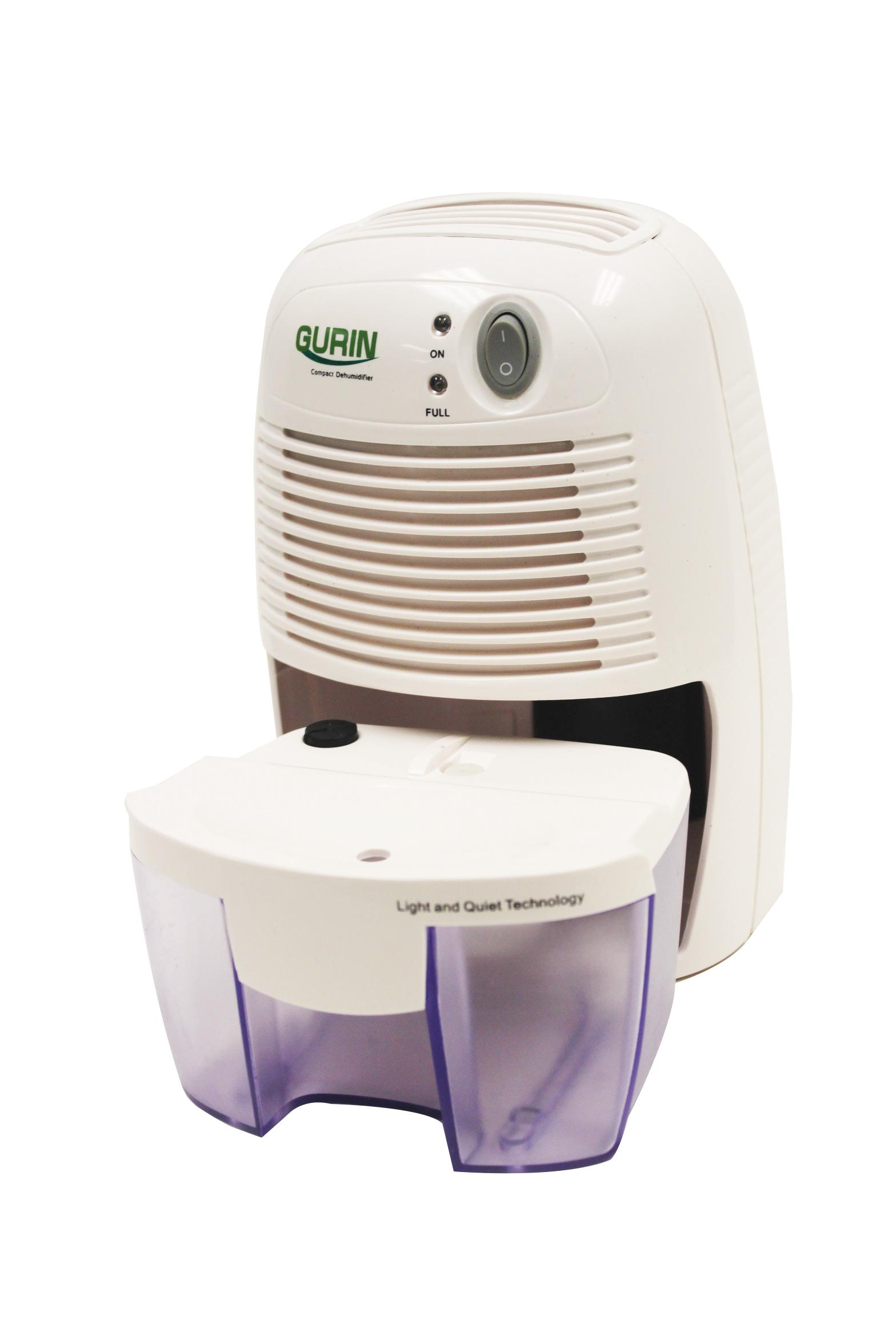 Gurin DHMD 210 Electric Compact Dehumidifier Image With Water Tank #433568