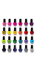 Amazon shany nail art set 24 famous colors nail art polish nail polish sally hansen nail polish nail color nail enamel lacquer nail art tools nail brush prinsesfo Images