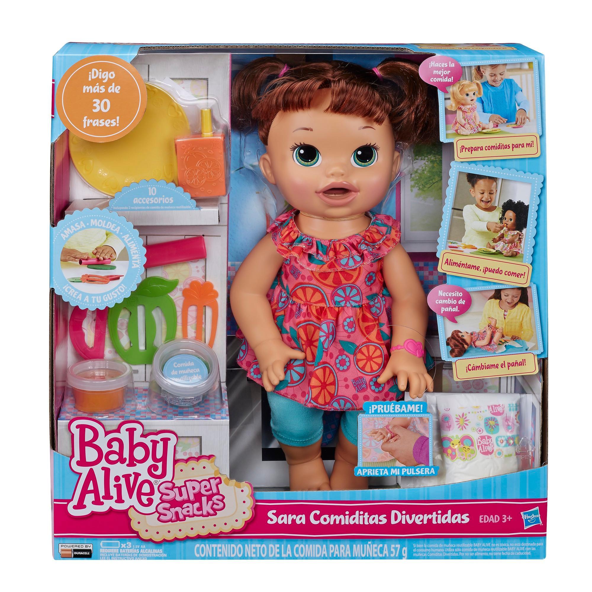Baby Alive Super Snacks Snackin Sara Brunette