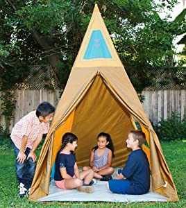 teepee, tent, play, kids