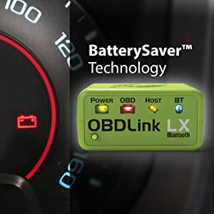 OBDLink LX BLuetooth comes with BatterySaver technology
