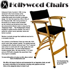 "Amazon.com: Hollywood Chairs by Totally Bamboo 32"" Elm Director Chair, Black: Kitchen ..."