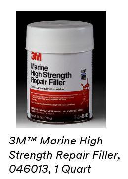 Amazon.com: 3M White 1 pt 46012 Marine High Strength Repair Filler-Pint: Garden & Outdoor