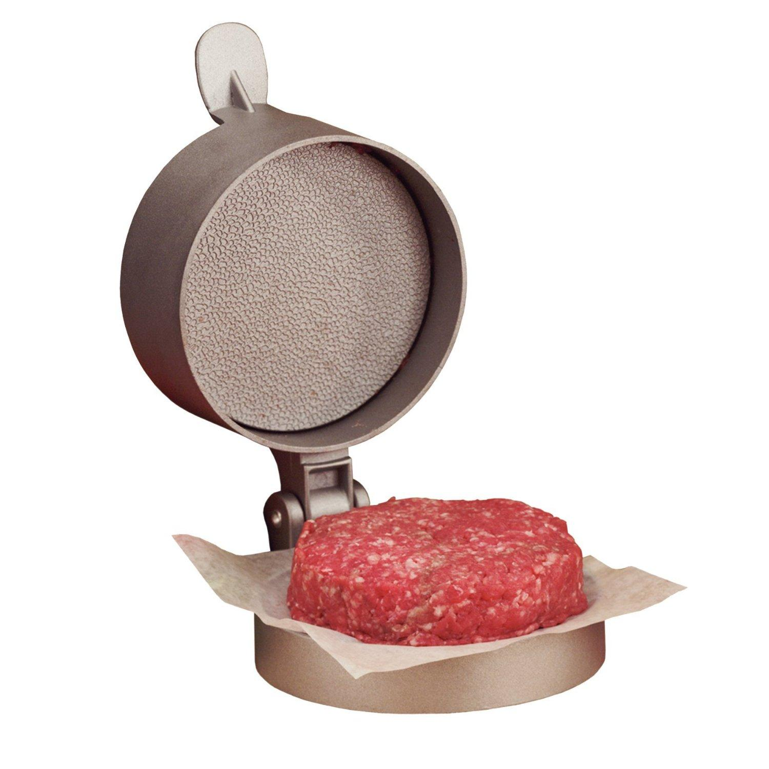 Non-stick single hamburger press