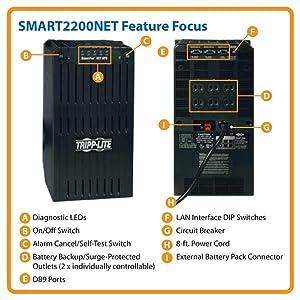 Amazon Com Tripp Lite Smart2200net 2200va 1700w Ups Smart