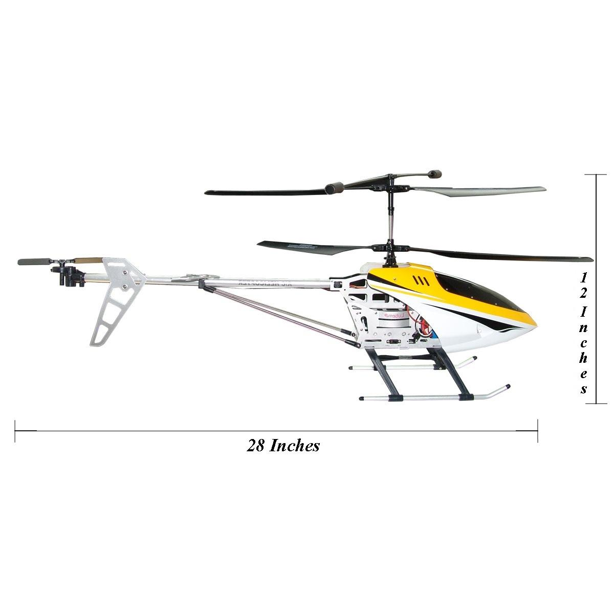amazon com  lutema 3 5ch remote control helicopter  yellow  large  toys  u0026 games